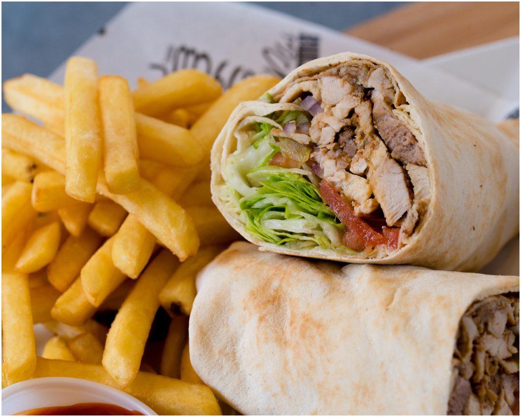 Chicken Shawerma & Fries